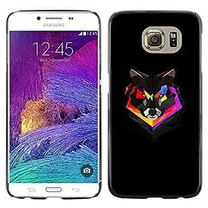 TECHCASE**Cubierta de la caja de protección la piel dura para el ** Samsung Galaxy S6 SM-G920 ** Polygon Colorful Fox