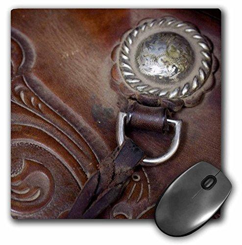 3dRose LLC 8 x 8 x 0.25 Inches Mouse Pad, Oregon, Seneca, Ponderosa Ranch, Cowboy Saddle, Jaynes Gallery (mp_93547_1)