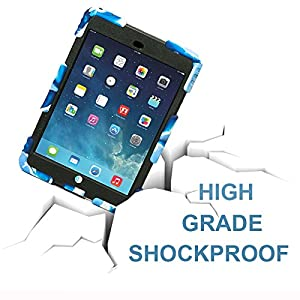 iPad Mini 4 Case ,Aceguarder New Design iPad Mini 4 Case Rainproof Dirtproof Shockproof Cover Case With Stand Super Protection for iPad Mini 4 (Navy-Black)