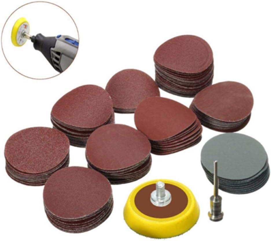 disques de pon/çage Mini 1 Power Flexible Kit de Nettoyage pour perceuse Polisseuse 1//8 FADDR Lot de Feuilles abrasives