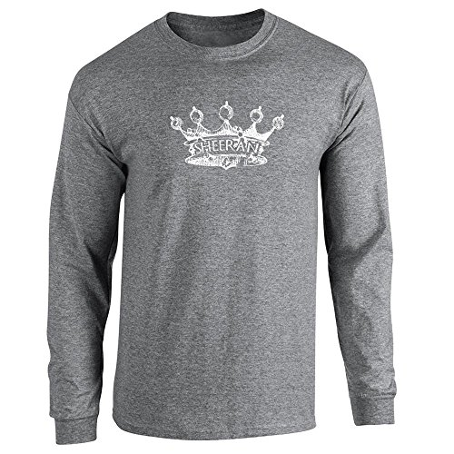 Pop Threads House Sheeran Crown Graphite Heather 2XL Long Sleeve T-Shirt