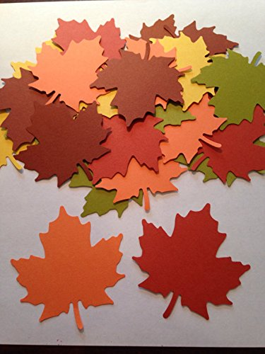 25 Fall Leaves Die cuts, 2 1/2 inch Leaf Cutout, Large Leaf Confetti, Thanksgiving Decor, Cupcake Topper, Leaf Paper Piecing, Autumn Leaves - Die Cuts Piecing