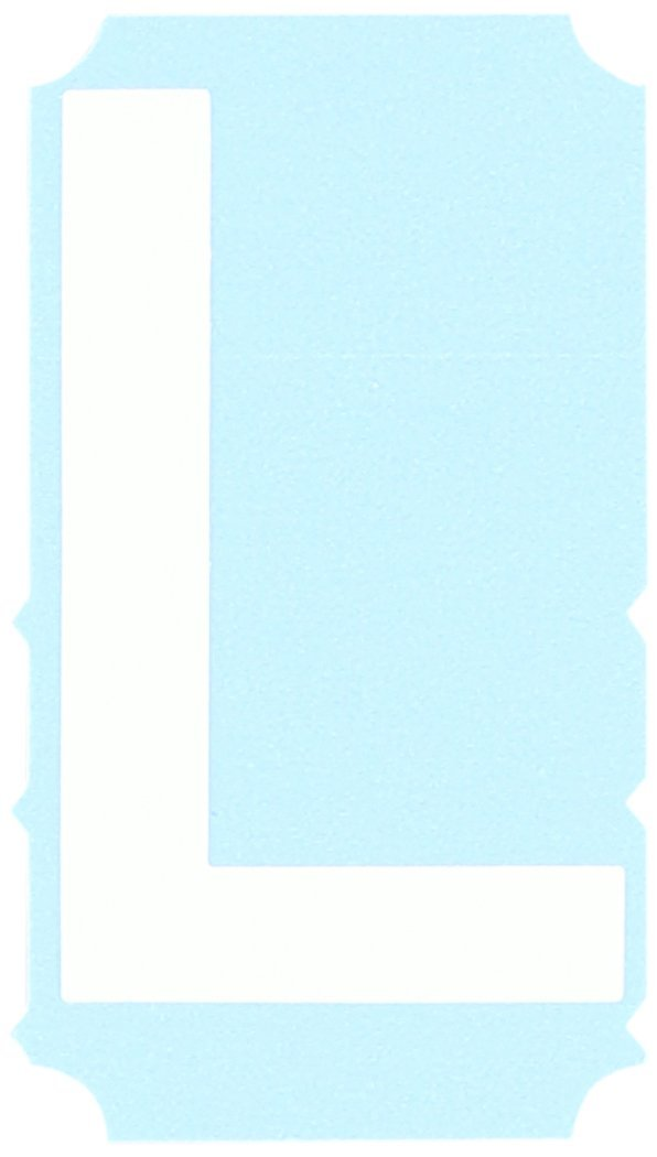 Brady 6003-L'L' Label, Photo Luminescent Polyester Tape, 3', (Pack of 25), Luminous Green 3