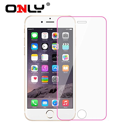 Only® Phone film for iphone 6 (4.7'') / iphone 6 plus (5.5'')- HD Clear Glass Film - Lace, Tempered glass film, color film, HD, colorful, various types, highest quality premium high definition Ultra Clear Screen protector (ip 6 plus - HD Clear Film - Pink Lace)