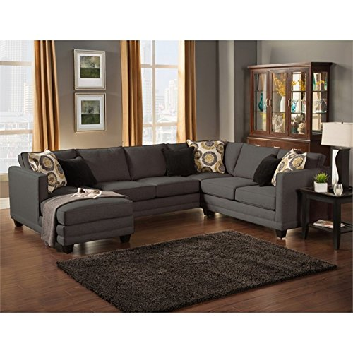 Furniture Of America Opitzi Modern Sectional In Ebony Best Sofas Online Usa