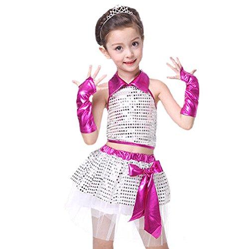 Children Girls Sequin Jazz Dance Costume Street Dance Fashion (Street Dance Costume)