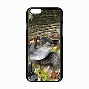 iPhone 6 Black Hardshell Case 4.7inch squirrel leaf tree autumn Desin Images Protector Back Cover