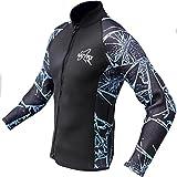 NatyFly Wetsuit Jacket Long Sleeve Neoprene Wetsuits Top For Men/Women