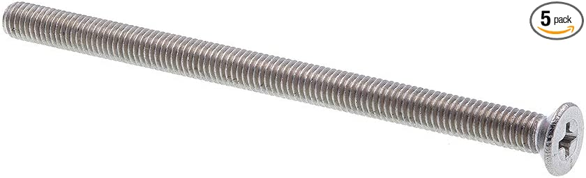 M2.5-.45 X 10 Phillips Flat Machine Screw A2 Stainless Steel Package Qty 100