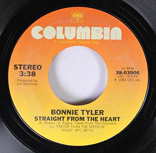Bonnie Tyler 45 RPM Straight From The Heart / Total Eclipse Of The Heart (Bonnie Tyler Total Eclipse Of The Heart Vinyl)
