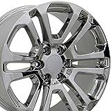 truck rims gmc sierra - 20x9 Wheel Fits GM Trucks & SUVs - GMC Sierra Style Chrome Rims