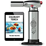 Blow Torch - Best Culinary Torch - Aluminum Kitchen Hand Butane Torch –