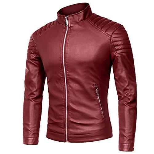 Red Motorcycle Jacket Men - 8