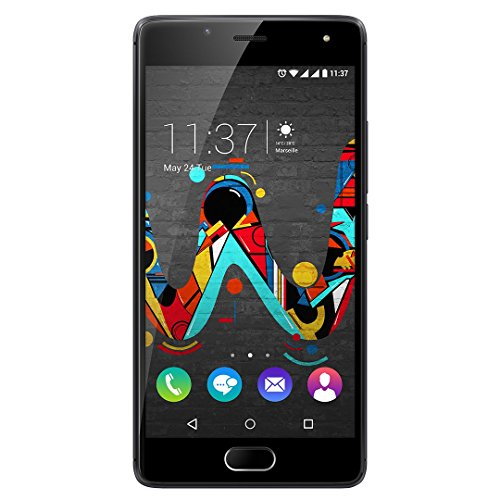 Wiko 9678 U FEEL Smartphone (12,7 cm (5 Zoll) HD IPS-Display, Fingerabdruck-Sensor, 16 GB interner Speicher, Android 6.0 Marshmallow) space grau