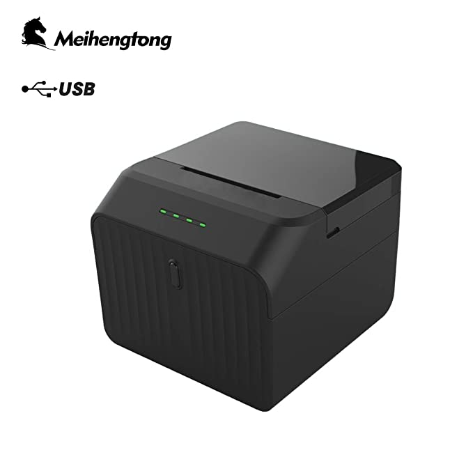 Impresora de Etiquetas Recibos, Meihengtong High Speed Pos Printer Support USB Windows Cash Drawer Compatible with ESC/POS Print Commands Set, 58mm 2 ...