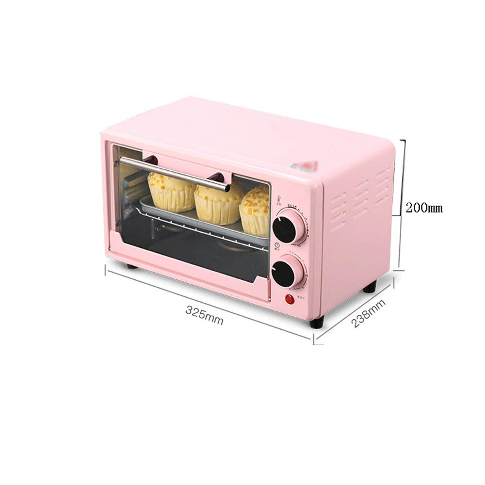 LQRYJDZ Oven,Mini Oven Home Compact Smart Oven,Pizza Baking Cake Bread Automatic Electric Oven 10 liters - Bake - Broil - Roast, Includes Rack and Baking Pan by LQRYJDZ