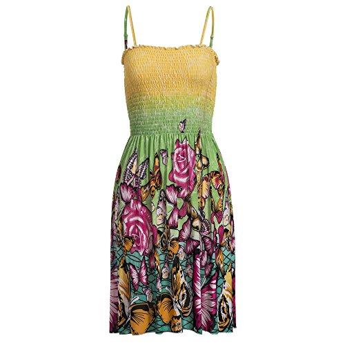 Unbekannt - Vestido - trapecio - para mujer Multicolor/Grün