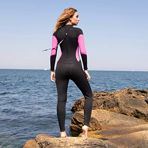 Allywit Wetsuits Women 3MM Neoprene Scuba Surfing Diving One Piece Sport Skin Spearfishing Full Suit Black by Allywit (Image #3)