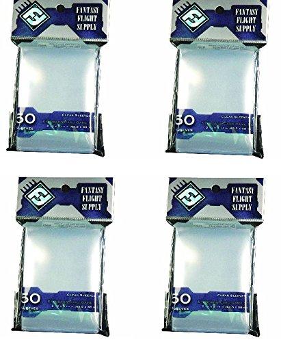 BUNDLE of 200: Clear Sleeves: Standard Card Game Pack (50 Sl