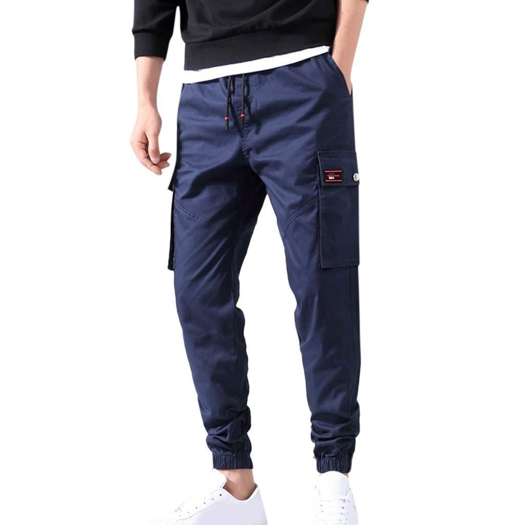Pantalones de chándal Chinos para Hombre Pantalones de chándal de sarga elásticos de Color caqui Blue