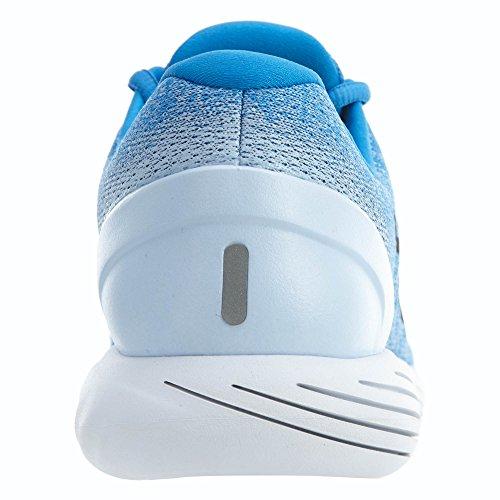 Nike Herren LunarGlide 9 Laufschuh (Schwarz, Anthrazit, Volt) Italien Blau / Schwarz-Wasserstoff Blau