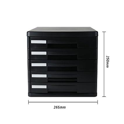 HRRH Escritorio Archivador De Cajones Cerrados - Mini Escritorio 5 Cajones Archivo Organizador Gabinete Organizador Ideal para Archivar Y Organizar ...