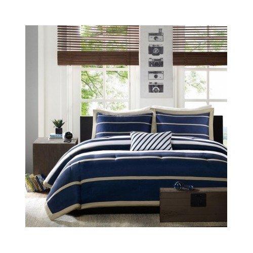 Compare Price To Blue And White Striped Comforter