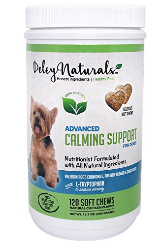deley-naturals-dog-anxiety-support-120-chicken-soft-chews-valerian-root-and-l-tryptophan-natural-cal