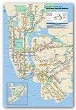 New York City Subway Map Art Print Poster