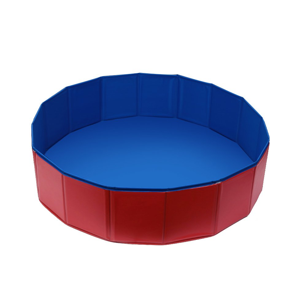 Fuloon Foldable Dog Paddling Pool Puppy Cats Swimming Bathing Tub Pet Children Kid Ball Water Ponds by Fuloon (Image #9)