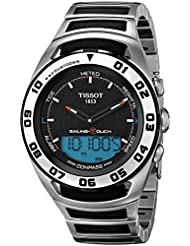 Tissot Mens  Sailing Touch Black Dial Stainless Steel/Rubber Multifunction Watch T056.420.21.051.00
