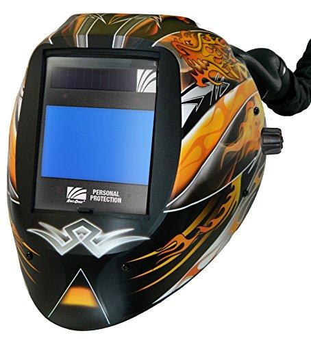ArcOne AP-X60VX-1533 AirPlus Vision Dragon Fire Welding Helmet with X60VX Digital ASIC 5 x 4-Inch with X-TIG Darkening Filter