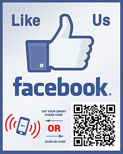 Like Us On Facebook Sticker Social Media Qr Code And Nfc Tag