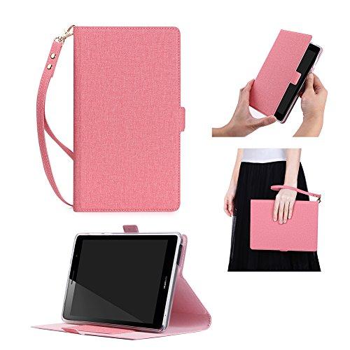 Mediapad T3 7 3G Case, ISIN Huawei Mediapad T3 7 3G BG2-U01 BG2-U03 Tablet Premium PU Leather Flip Case Stand Cover (Don't Fit for T3 7 Wifi BG2-W09) (Rose)
