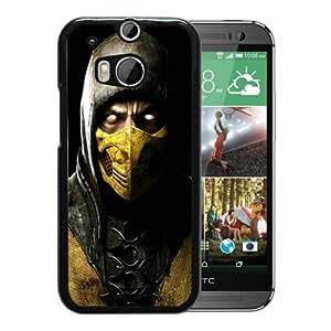 Beautiful Designed Case With mortal kombat x scorpio ninja mask Black For HTC ONE M8 Phone Case