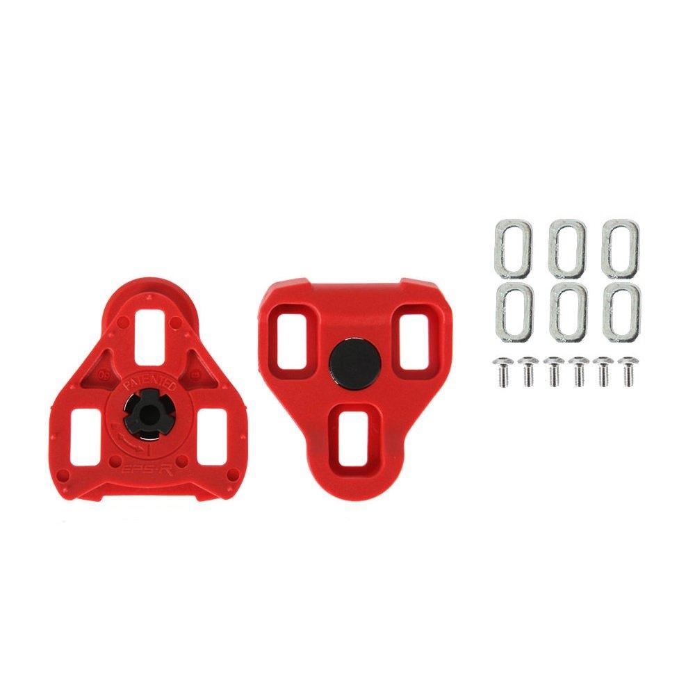 Positz ARC10 Look Keo Road Cleats - 7deg Float Red