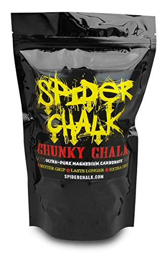 Spider Chalk Chunky Chalk - A Mix Of Powder and Blocks, 12 oz. Bag - Extra Dry, Long-Lasting Grip - For Rock Climbing (Indoor & Outdoor), Bouldering, & Gym ()
