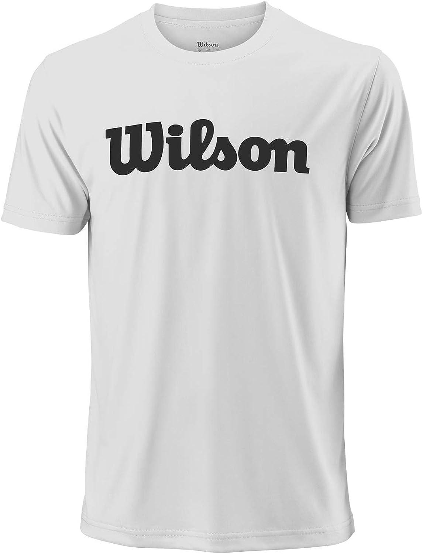 Wilson Hombre, M UWII SCRIPT TECH TEE, Camiseta de tenis manga corta