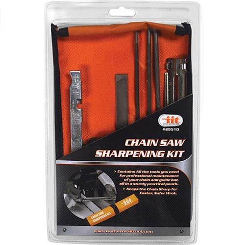 IIT 29510 Chain Saw Sharpening Kit Chainsaw File Tool Set Guide bar File with Instructions, by iit