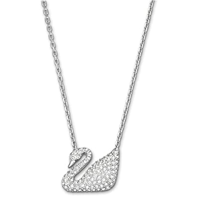 c85ff7e77d93 Image Unavailable. Image not available for. Color  Swarovski Crystal Swan  Pendant