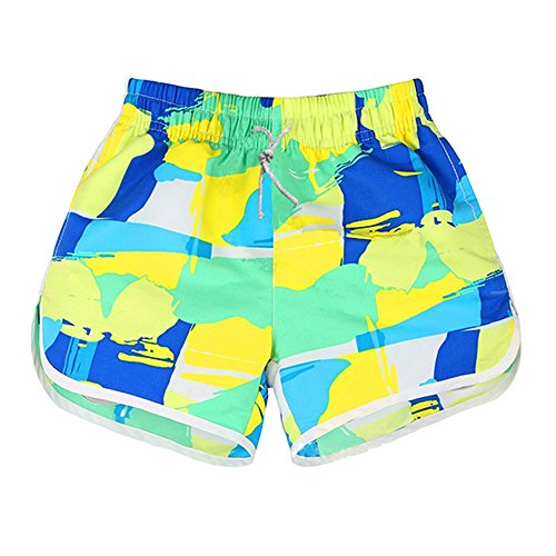 Lifeisbest Women's Summer Board Short colourful Beach Swim Trunks(L)