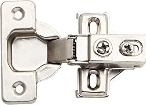 20 Pack - Silverline Face Frame Quiet Soft Close Cabinet Door Hinges, 1/2 Inch Overlay, with Built-in Metal Dampers, Strong Heavy Duty Steel for Kitchen Bathroom