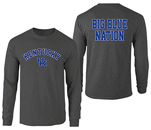Men's Kentucky Wildcats Long Sleeve Shirt Dark Heather Back Kentucky Wildcats Dark Heather X Large ()