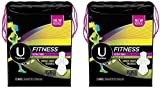 U by Kotex Fitness Ultra Thin Pads with Wings, Unscented Heavy Flow, 13 Count (Pack of 2)
