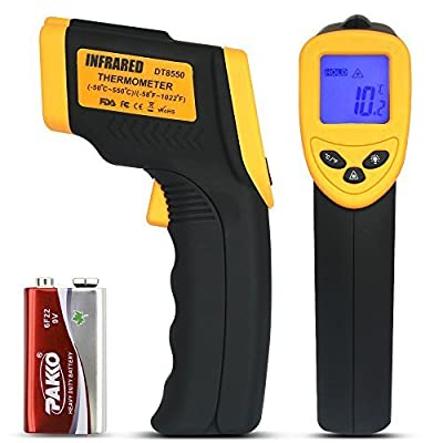 LP Digital Infrared Thermometer ? Non-contact Temperature Gun with LCD Laser Sight ? Instant-read Handheld ? Yellow/Black