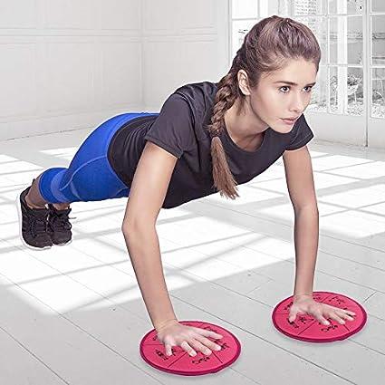 HISROOM Core Sliders Disques De Glisse Disque dexercice Training Bands for Legs and Glutes with Gliding Discs Tapis De Bois pour Entra/înement Abdominaux Fitness Yoga Pilates Gym Etc
