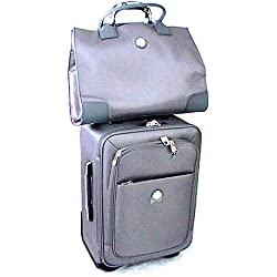 JOY TuffTech Luggage with Tote Ensemble with Revolutionary SpinBall Wheels - Platinum
