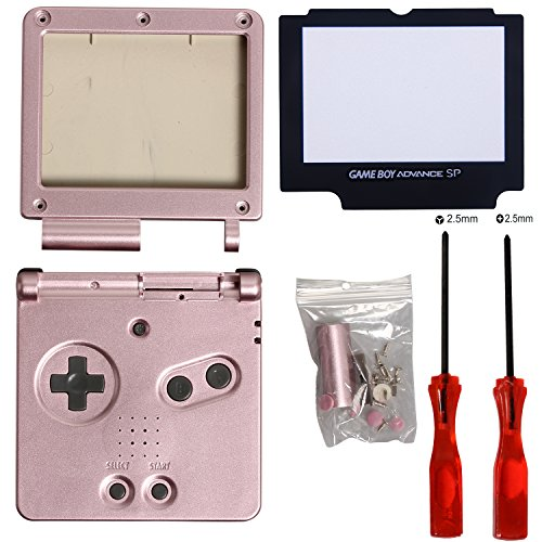Timorn Full Parts Housing Shell Pack Replacement for Nintendo GBA SP Gameboy Advance SP (Pink Pack) (Gameboy Advance Sp Controller compare prices)