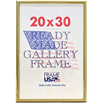 amazoncom deluxe poster frame 20 x 30quot gold posters