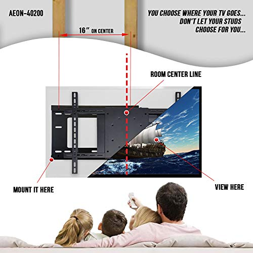 Aeon Stands and Mounts 40200 full motion TV wall mount with 28'' Extension (Black) by Aeon Stands and Mounts (Image #4)